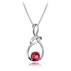 Women' s Fashion Diamante Water drop Alloy Pendant Necklace