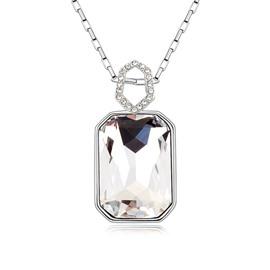 Women' s Fashion Crystal Hexagon Pendant Necklace