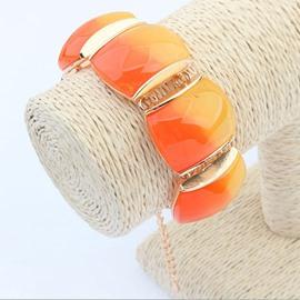 Women's Sparkle Elastic Oval Gemstone Bracelet