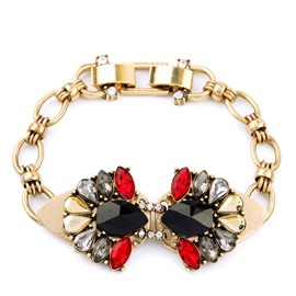 Women's Vintage Drop Gemstone Bracelet