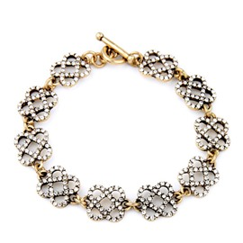 Women's Skeleton Diamante Flower Bracelet