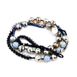Women's Crystal Beads Knitting Bracelet