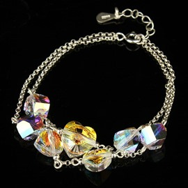 Women' s Fashion Multi-layer Austria Crystal Bracelet