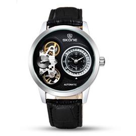 3 Dial Skeleton Automatic Waterproof Calendar Men' s Wrist Watch