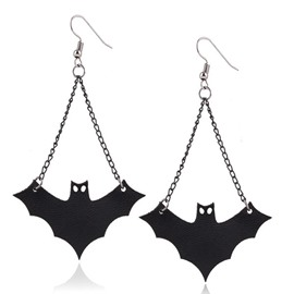Halloween Style Black Bat Earings