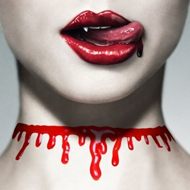 Halloween Style Creative Simulate Bloodstains Necklace