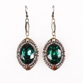 Sparking Diamante Stone Simple Design Pendant Earrings