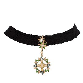 Fabulous Stars Design Black Choker Necklace