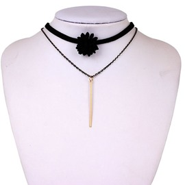 Stunning Multilayer Design Black Choker Necklace