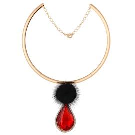 Fabulous Water Drop Shape Diamante Pendant Necklace