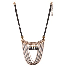 Chain Tassels Exaggerated Pendant Necklace