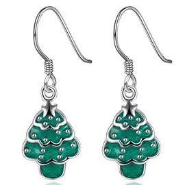 Popular Christmas Tree Design Pendant Earring
