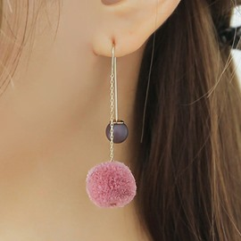 Lovely little Pompon Design Alloy Chain Earring