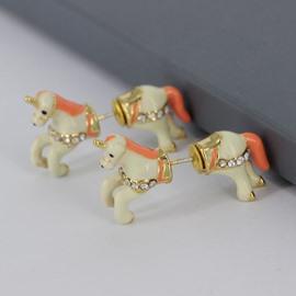 Lovely Unicorn Animals Design Enamel Glaze Women's Earrings