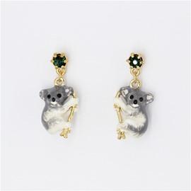 Cute Koala Design Enamel Glaze Earrings