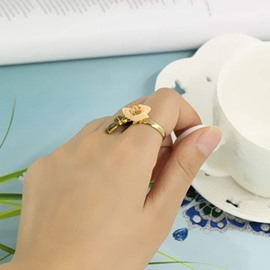 Charming Flower Design Two Colors for Choose Ring
