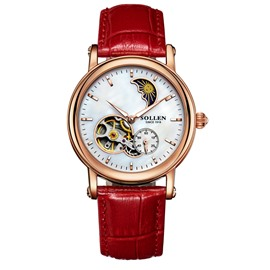 Water Resistant 38mm Luminous Automatic Mechanical Luxury Watches for Women