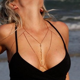 Sexy Golden Waist Charm Bikini Beach Pendant Necklace Body Chain