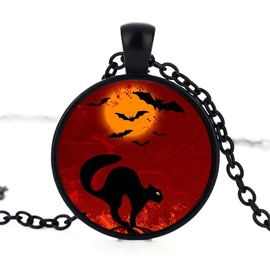 Alloy Bat Cat Pattern Sexy Fashion Halloween Necklace