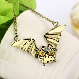 Alloy Gear Bat Shape Sexy Fashion Halloween Necklace