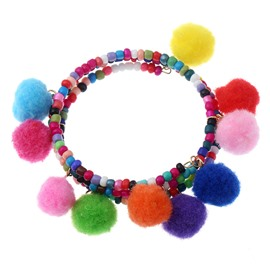 Handmade Bohemian Charm Tassel Bracelets for Women Colorful