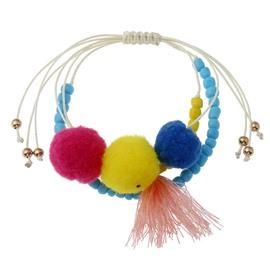 Pum Pum Ball Bohemian Charm Tassel Bracelets