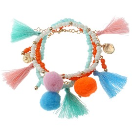 Ice Cream Color Bohemian Charm Tassel Bracelets