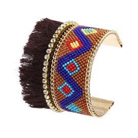 Boho Vintage Curved Open Wide Cuff Bangle Bracelet