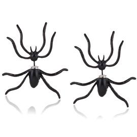 Spider Earrings Halloween Novelty Earrings 1 Pairs Black
