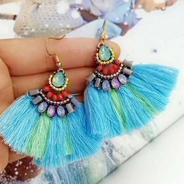 Crystal Female Diamante Technic Water Drop Earrings