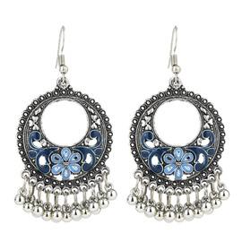 E-Plating Technic Alloy Female Geometric Retro Style Drop Earrings