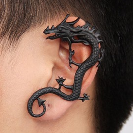 Black Dragon On Ear Ear Clip Alloy Earring