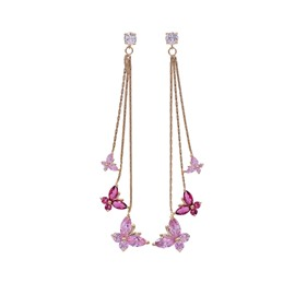 Diamond Tassel Earrings Female Butterfly Earrings