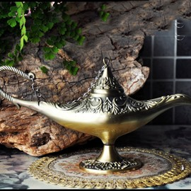 Mysterious Classical Dark Gold High Quality Aladdin's lamp