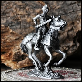 Elaborate Fantastic Design Knight with Horse Areware