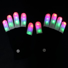 New Arrival Super Cool Colorful LED lighting Gloves