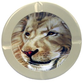 3D Baking Varnish Smart Lion Metal Cigarette Dish