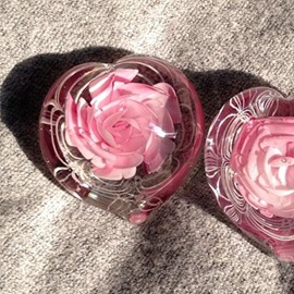 Heart-shaped Hand-made Dried Flower Resin Ball Romantic Valentines Day Gift