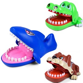 Bulldog Shark Crocodile Dentist Game for kids&Adults