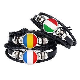 World Cup Theme Leather Material A Pair of Selling Bracelet
