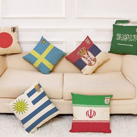 Modern Style World Cup Theme National Flag Pattern Pillowcase