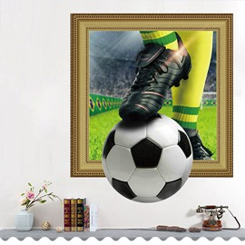 World Cup Theme PVC Material Football Pattern Creative Wall Poster