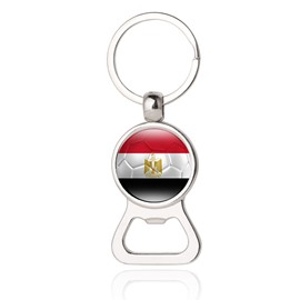 World Cup Theme Metal Material Geometric Shape National Flag Pattern Bottle Opener