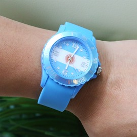 World Cup Theme Glass Material National Flag Pattern Watch