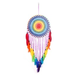 Colorful Feather Cotton Hand Knitting Dreamcatcher Indian Style Home Decoration