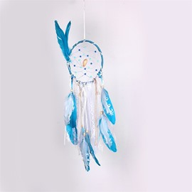 Sky Blue Hand Knitting Dreamcatcher Home Decoration Holiday Gift