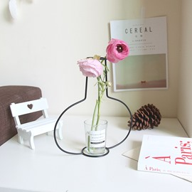 Wire Vase Simple and Creative Multi-shape FrameDecoration Gift for Home Wedding Centerpieces Décor