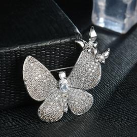 High-grade Shiny Beautiful Zircon Butterfly Brooch