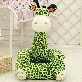 Super Cute Green Giraffe Cartoon Pattern Children Lazy Sofa Tatami Seat