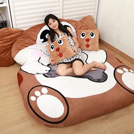 Cute Soft Dog Design Lazy Sofa Tatami Seat